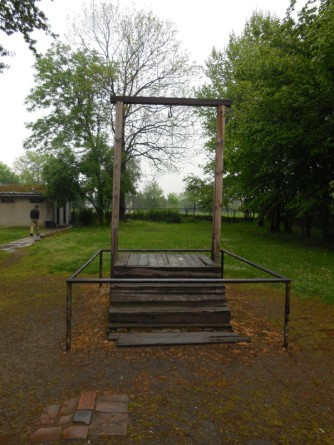 The gallows where Hoess was hanged