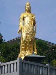 Golden cemetery statue