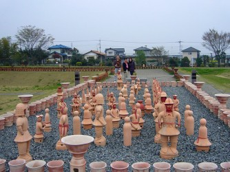 Haniwa sculptures